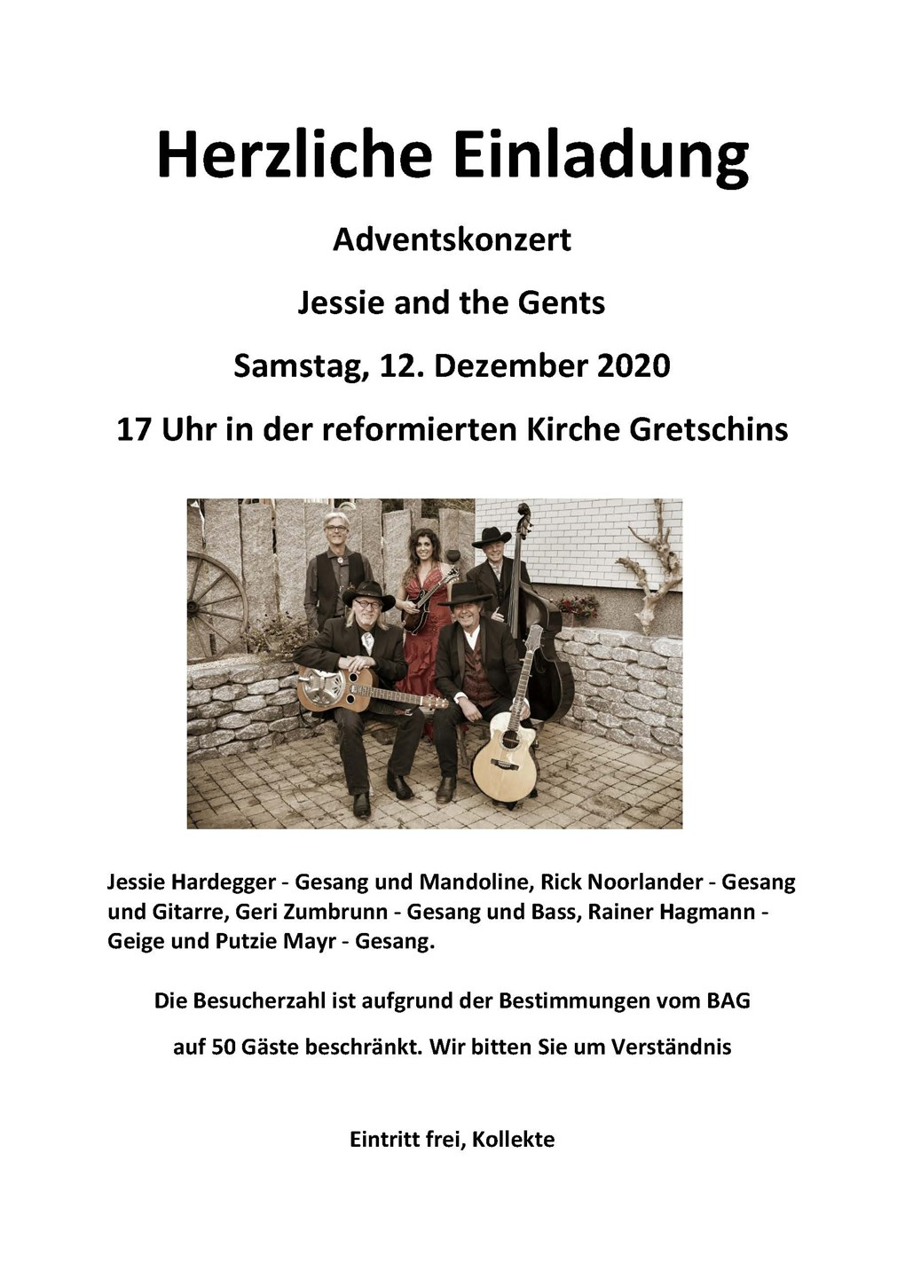 Adventskonzert JESSIE AND THE GENTS
